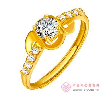 金麒隆-金镶石戒指