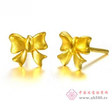 锦邦珠宝-蝴蝶结耳环