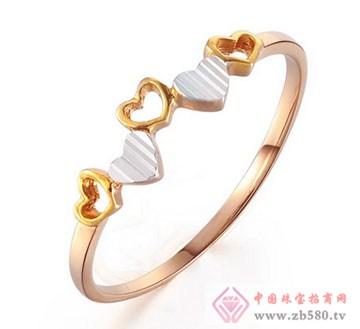 锦邦珠宝-心心相印K金戒指