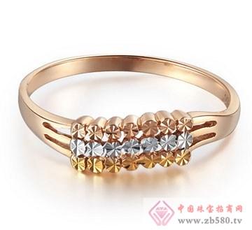 锦邦珠宝-彩金戒指-三色环