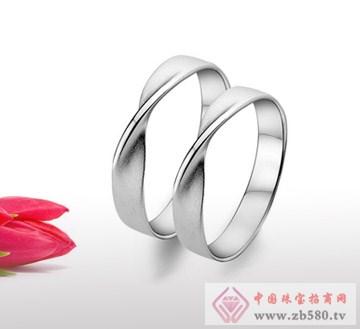 兆祥银饰-纯银情侣戒指
