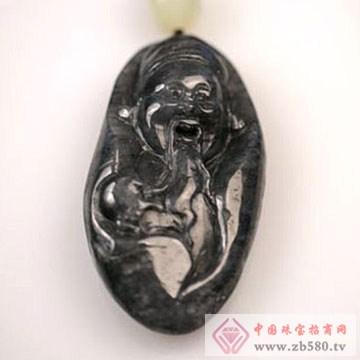 本真珠宝-和田墨玉财神挂件