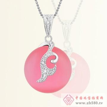 港岛银饰-粉红代码吊坠