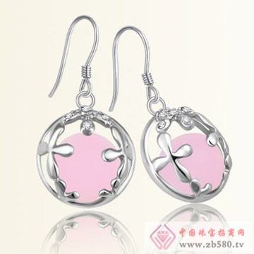 港岛银饰-粉红代码耳饰