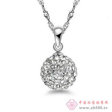 法蒂尼-纯银满天星水晶球项链