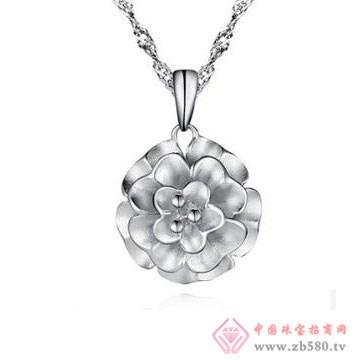 法蒂尼-纯银牡丹花吊坠