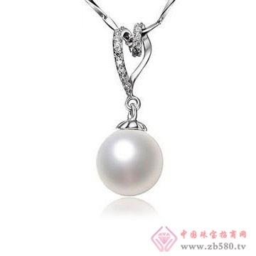 法蒂尼-时尚心形扣贝珠珍珠项链