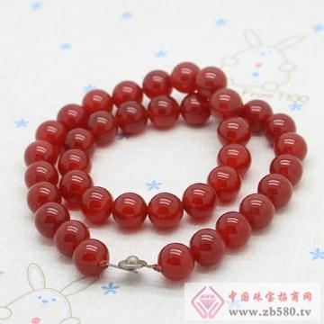 宏达工艺-玛瑙圆珠项链