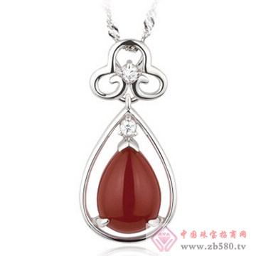 迴响珠宝-红玛瑙925银饰吊坠
