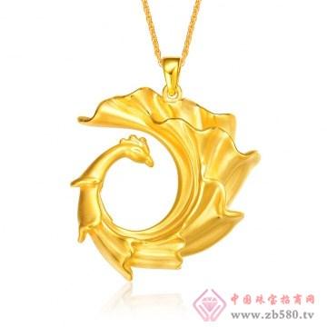 金榕珠宝-3D硬千足金凤凰硬金凤圈