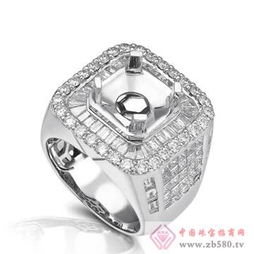 大新珠宝-18K白色黄金钻石戒托02