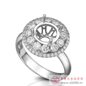 大新珠宝-18K白色黄金钻石戒托03