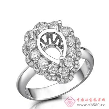 大新珠宝-18K白色黄金钻石戒托04