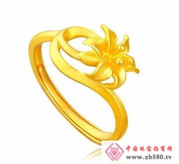 爱大福珠宝黄金戒指
