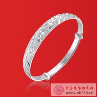 爱大福珠宝银手镯