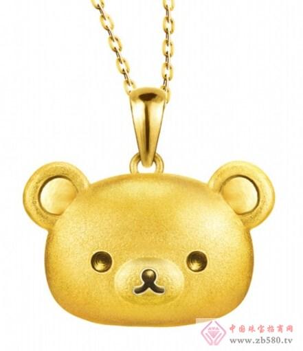 六福珠宝 全新2014轻松小熊系列饰品
