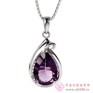映时珠宝-925纯银嵌宝石海洋之星吊