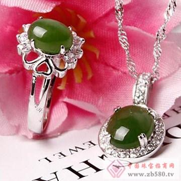 映时珠宝-S925银碧色芳华碧玉戒指