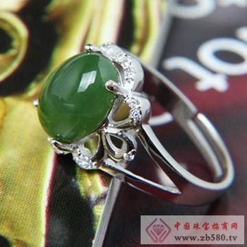 映时珠宝-S925银镶碧玉戒指