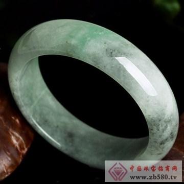 映时珠宝-天然A货冰糯种飘阳绿带黑