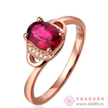 80一诺珠宝-18K玫瑰金顶级碧玺戒指