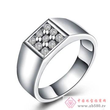 80一诺珠宝-18K白金天然南非钻石男