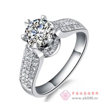 80一诺珠宝-18K白金钻石戒指