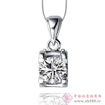 80一诺珠宝-18k白金钻石吊坠01