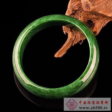 石磨坊-花青满绿手镯