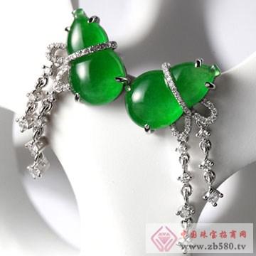 恒产珠宝-翡翠耳饰