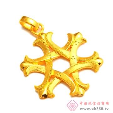 恒产珠宝-黄金吊坠08