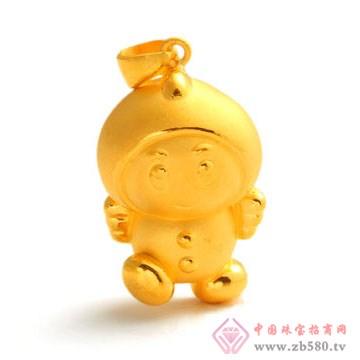 恒产珠宝-黄金吊坠06