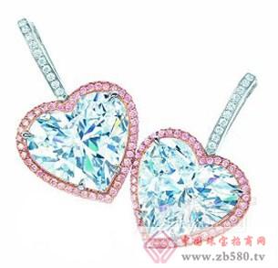 心形切割钻石耳坠