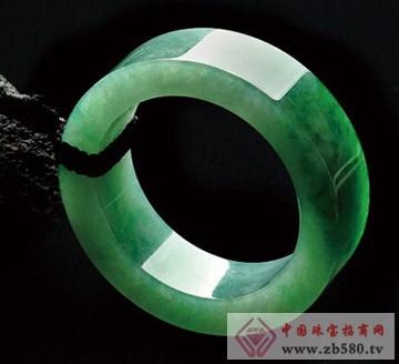 糯冰种满绿平安挂件