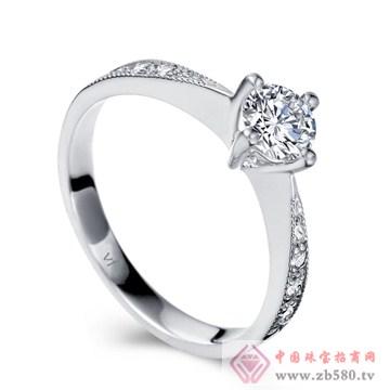 甄选ⅩⅪ白18K金钻石女戒
