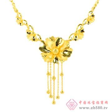 天世源-良缘金饰-紫金花套装链