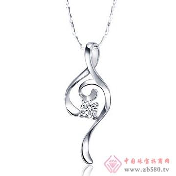 金兰首饰-18K白金钻石吊坠02