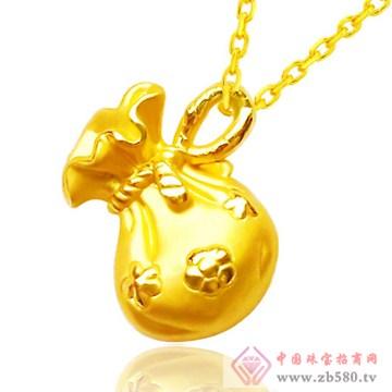 金兰首饰-3D硬金千足金吊坠06