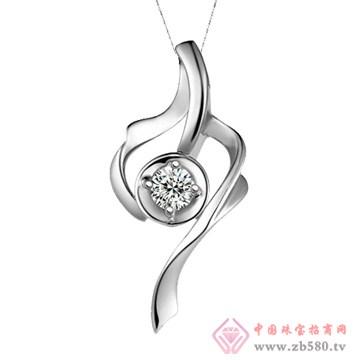 五洲金行-钻石吊坠09
