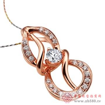 金玛银城-18K金钻石吊坠01