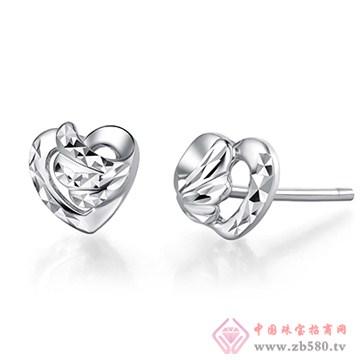 中鑫珠宝-钯金耳钉