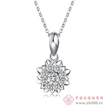 爱度钻石-莲花吊坠