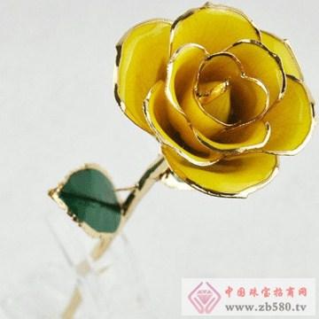 黛雅饰品-镀金玫瑰花08