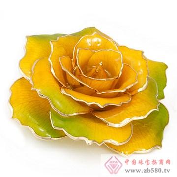 黛雅饰品-镀金玫瑰花10