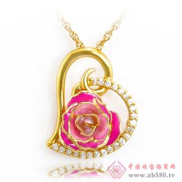 黛雅饰品-镀金玫瑰花吊坠03