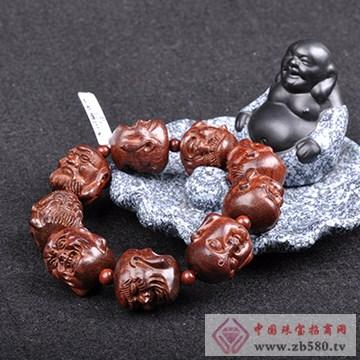 紫檀世家-2.5mm十八罗汉雕刻手串