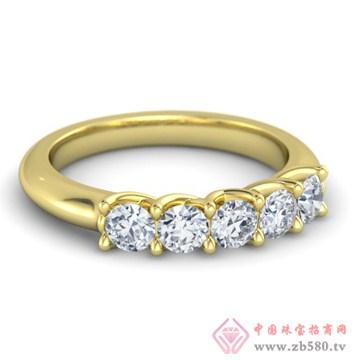 金银猫CSMALL-戒指【五连钻】