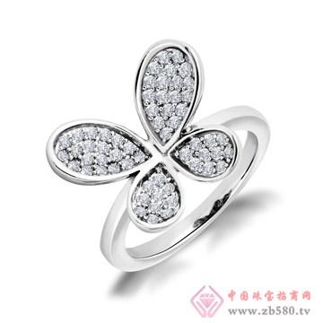 金银猫CSMALL-sivo925纯银戒指蝴蝶