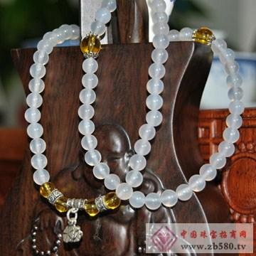 利和利贞-天然白玉髓S925纯银手链