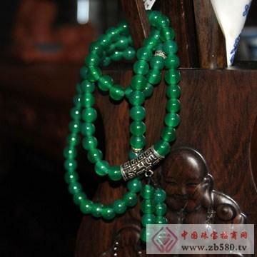 利和利贞-天然绿玛瑙s925纯银手链
